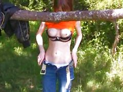 forest toying pussy of hot schoolmate