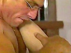 vintage stud fucks skinny slut hard./