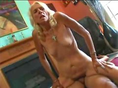 Grannie, Skinny, Blonde, Hairy and crazy for sex