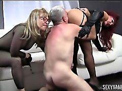 Nina Hartley, Sexy Vanessa and Jay Crew Hot Ass Licking