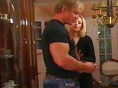 Skinny Blonde Rides A Huge Cock