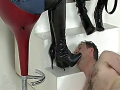 Licking English Boots