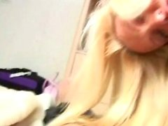 Intense Nasty Blonde Blowjob