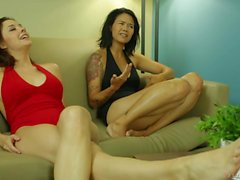 Dana Vespoli and shanel Preston show off Their sexy feet