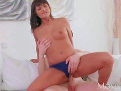 MOM Feisty brunette mom devours young man