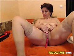 Naughty Mature enjoys Her Dildos