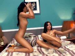 Nyomi and Sabrine - Tight Asian Sluts share their Holes
