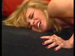 Blonde German girl gets rough pounding