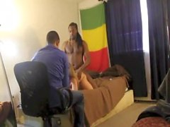 Wife fucked by BBC in front of Hubby while being recorded