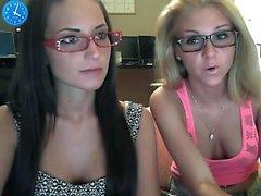 Beautiful girls having lesbian behaviors