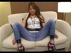 Asian Girl Tied To Couch Getting Hole Cut To Her Jeans Fingered Fucked With Vibrator Tits Rubbed By 2 Guys