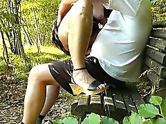 Dogging wife fucked by strangers in the park