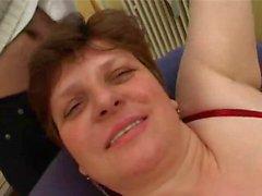 Esmer Kısa Hair BBW Matür
