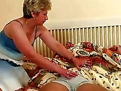Big Tits Blond Alte Taking Schw ...