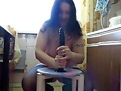Katja büyük yapay penis sürme Tombul anne