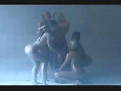 Hq Shower Lesbian Orgy