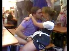 Guy Fingers His Girlfriend On Oktoberfest