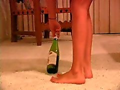 Skinny girl vs wine bottle