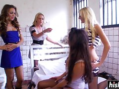 Naughty lesbians get to satisfy one another