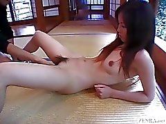Subtitled Japanese CMNF schoolgirl twenty marbles insertion