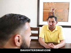 DaughterSwap - Slutty Besties Fick Barraum Dads