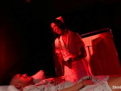 Behind the scenes w/ sexy nurse Skin Diamond