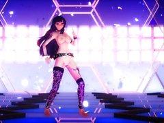 Om övervakningsmekanism lång Lupin Yuuka Kazami sexy dance