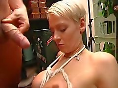 Blonde Banged Ass In Shop,By Blondelover