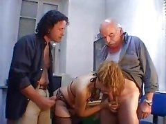 Lucky girl suck grandpa cock
