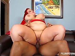 Fat Redhead Fucks Big Black Dick