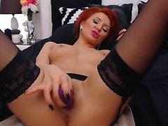 Redhead tattoo masturbate homemade