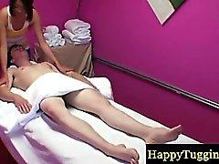 Asiansex masseur gets her client horny