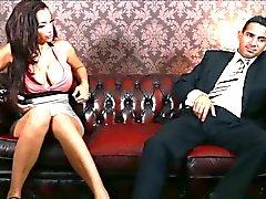 Stacked brunette Porcha Sins seduces a gentleman