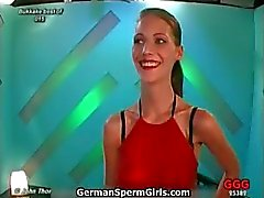 Sweet skinny german babe gets hot thick