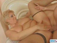 Beautiful Blonde Italian Shorthair BBW Granny