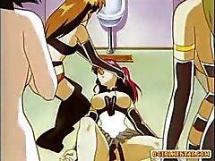Fessel Hentai Heiß Saugen Schwänze Transvestiten