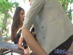 Nikki is a horny maid