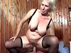 Blonde Bertha Granny Gets Boned