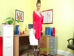 Incredibly hot secretary only undress