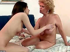 Grannies and Young Girls Lesbian Love