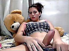 Hübsche Latina fap auf Kamera