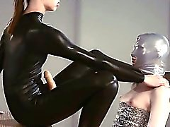 Luxury strapon girl4girl in mask playing