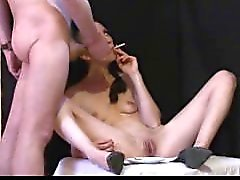 Curvy Hot Mom Sylvia Chrystall's Smooth Facefuck and EVE 120 Smoking Fetish