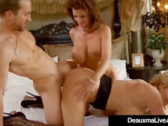 Texas Cougar Deauxma fickt und saugt Kelly Madison & Hubby!