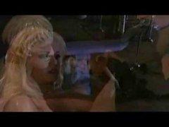 Stunning blonde Carmen Luvana passionately rides her lover's hard dick