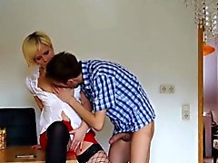 43yr old german Milf get fucked by 18yr old Boy at Work