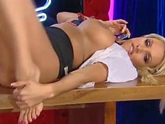 Dannii Harwood Red Light Central Feet 2