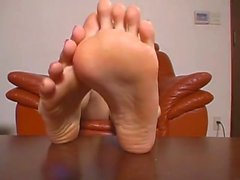 Beautiful Asian girl soles SHOW joi