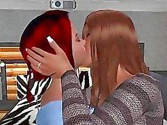 Lésbicas quente foder strapon