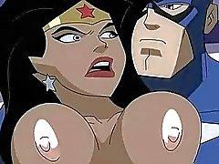 Superhelden Porn Wonder Woman vs Captain America